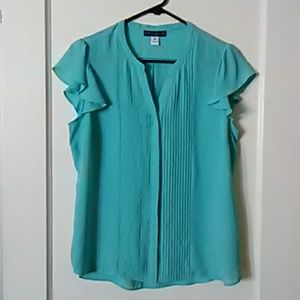 Simply Styled Flutter Cap Sleeve Blouse EUC!